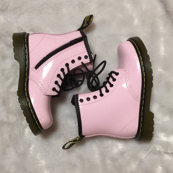 3772be1d0 Dr. Martens Shoes | New Toddler Patent Baby Pink Brooklee Doc ...